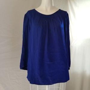 Talbots blue 12p silk top